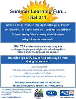 Summer Learning Flyer Graphic