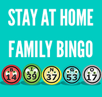 Stay At Home Family Bingo